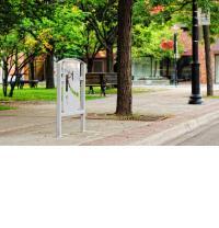 Public art bike rack series, Reflection