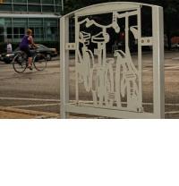 Public art bike rack series, Row of Bikes