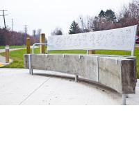 Kristof Zukowski, Leaf, public art bench