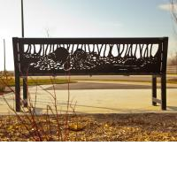 Palladium Park public art bench